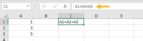 Forgot to enter an equals sign means no formula, just text