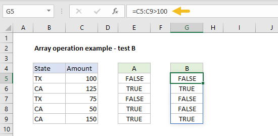 Array operation example test b
