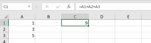 Formula with cell references