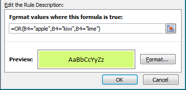 How to write a conditional formula in excel