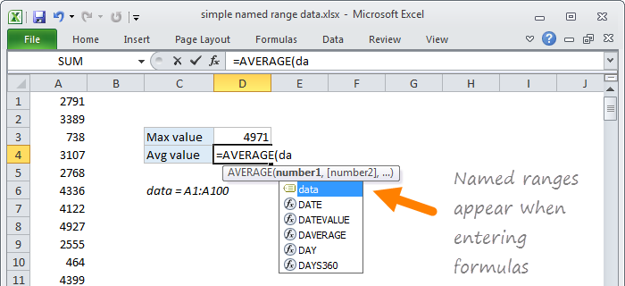 20 tips for Named Ranges in Excel | Exceljet