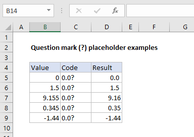Question mark placeholder examples