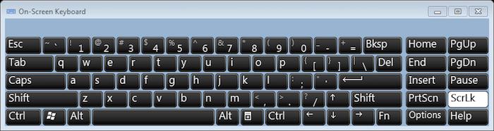 Windows virtual keyboard