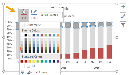 Right-click and set fill color for each series