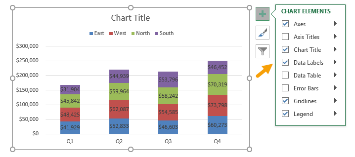 Add data labels to chart