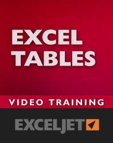 Video training for Excel Tables