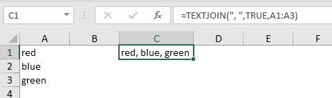 TEXTJOIN basic example