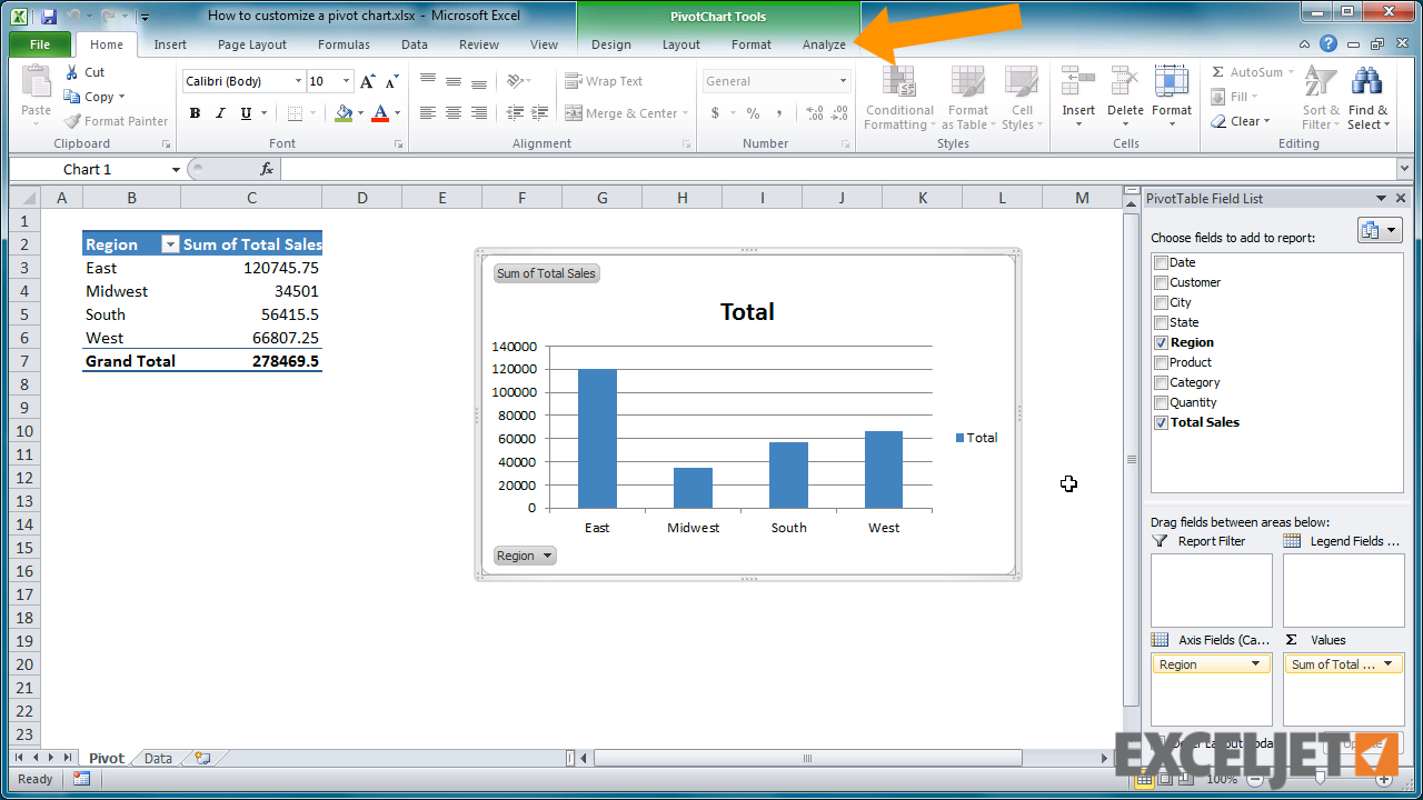 Excel tutorial how to change the pivot chart type from the video how to change the pivot chart type nvjuhfo Gallery