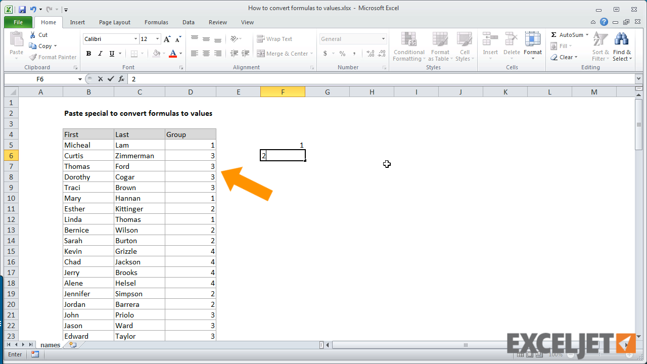 excel tutorial how to convert formulas to values