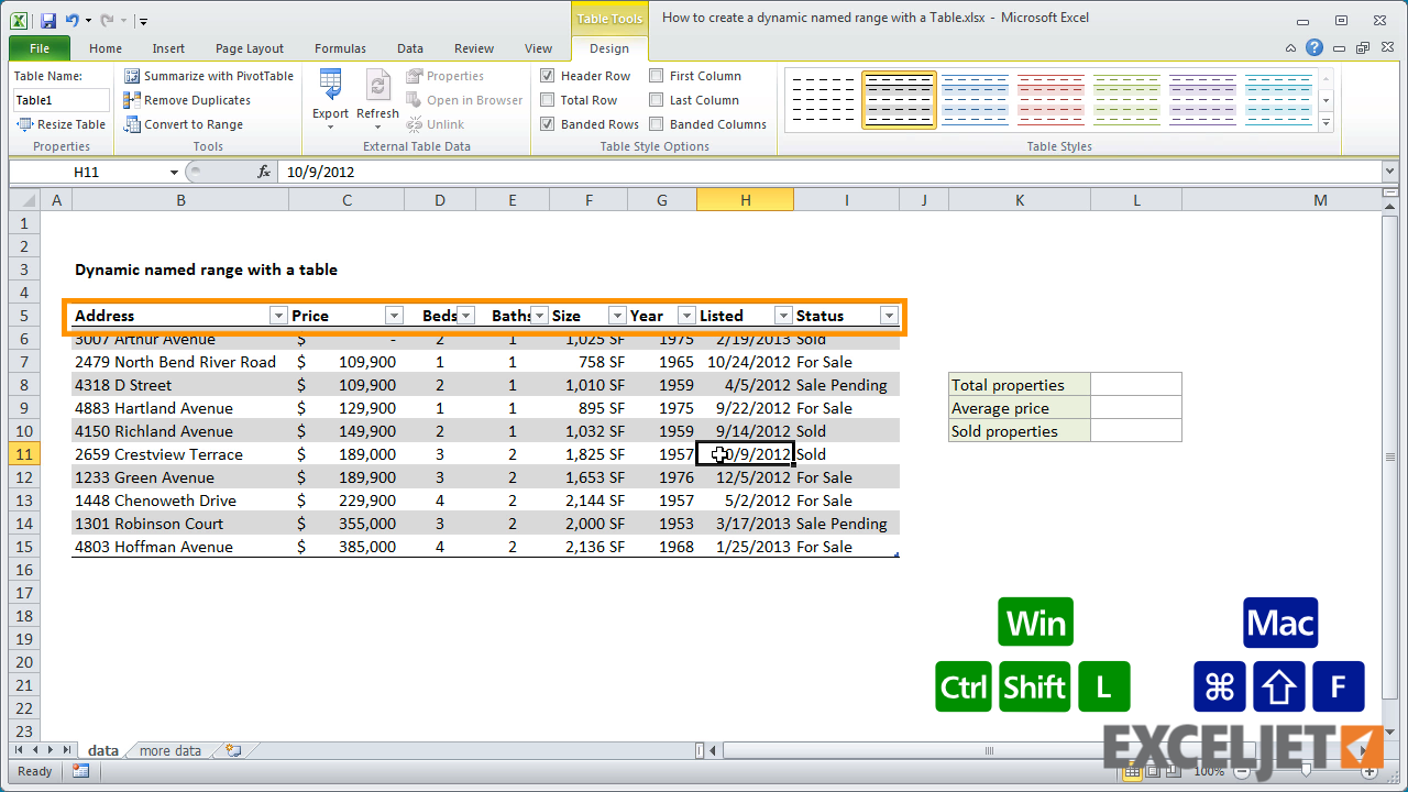 create a table in excel  Excel tutorial: How to create a dynamic named range with a Table