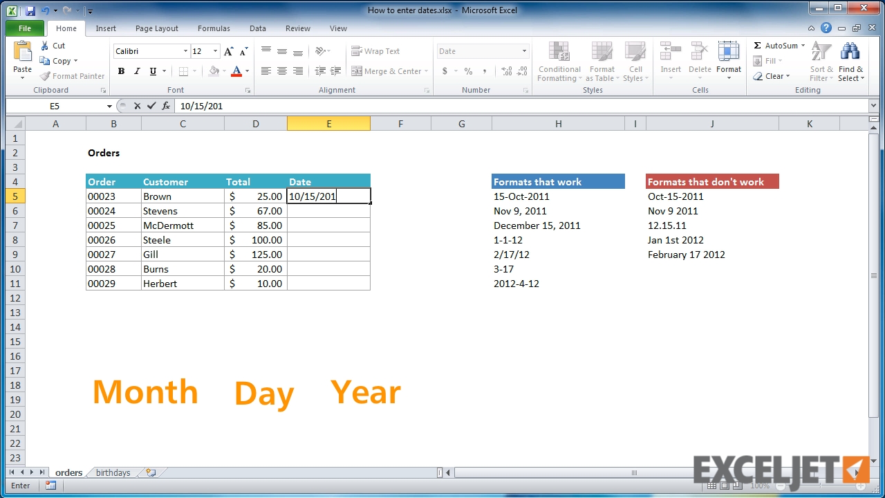 How to add and subtract dates, days, weeks, months and years in Excel