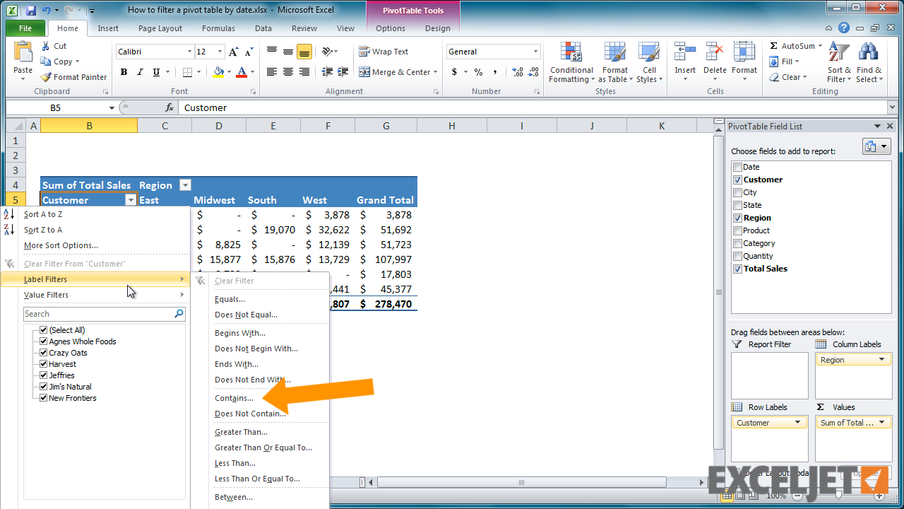 From The Video: How To Filter A Pivot Table By Date