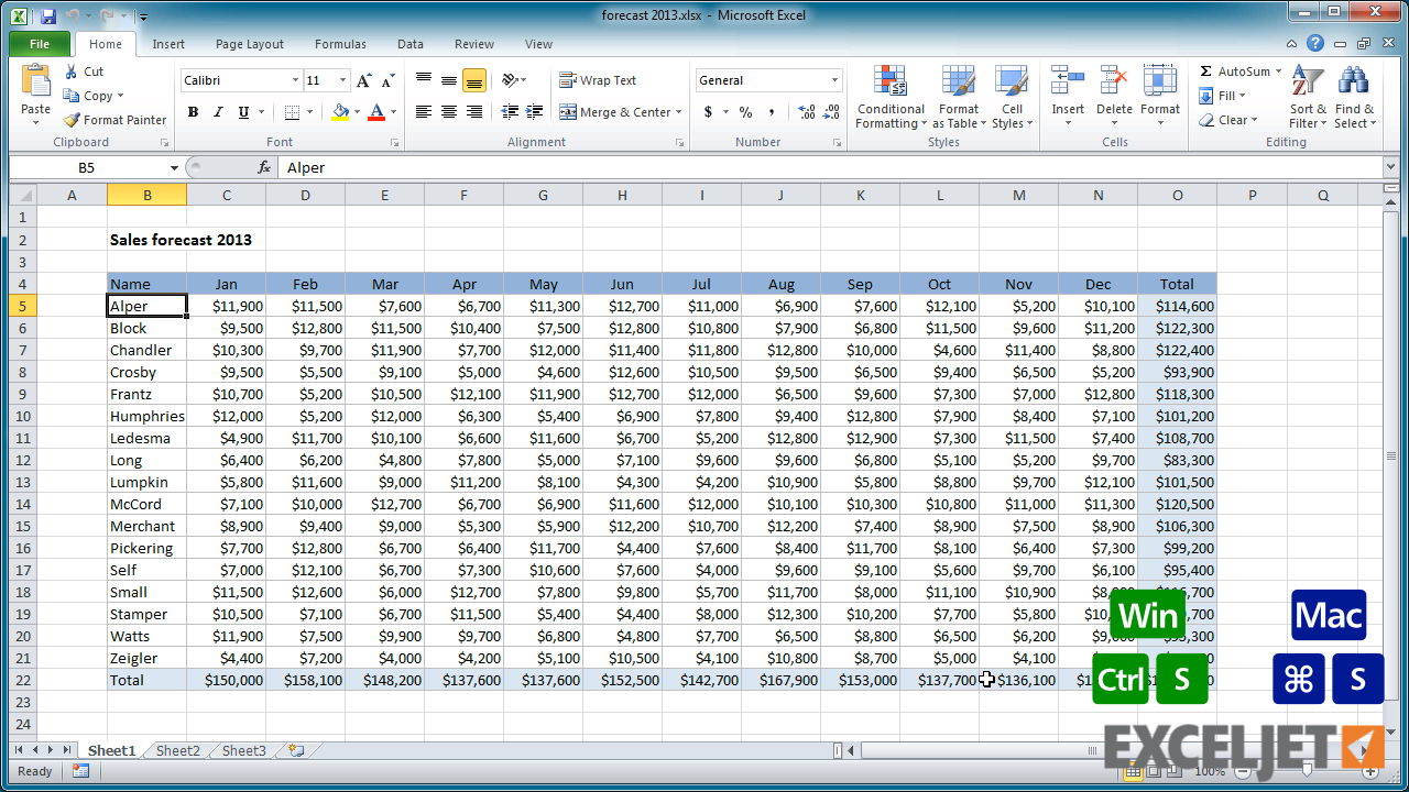 Workbooks excel workbook save : Excel tutorial: How to save a workbook