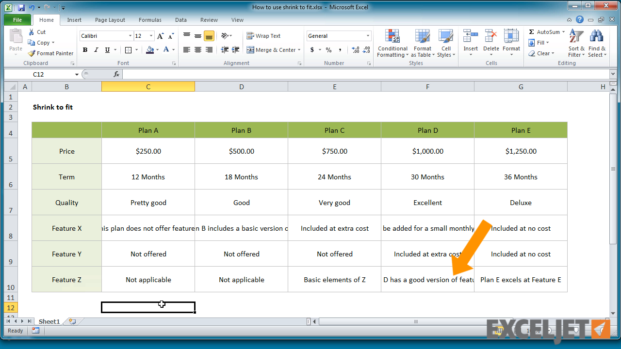 Excel tutorial how to use shrink to fit in excel from the video how to use shrink to fit in excel ibookread Download
