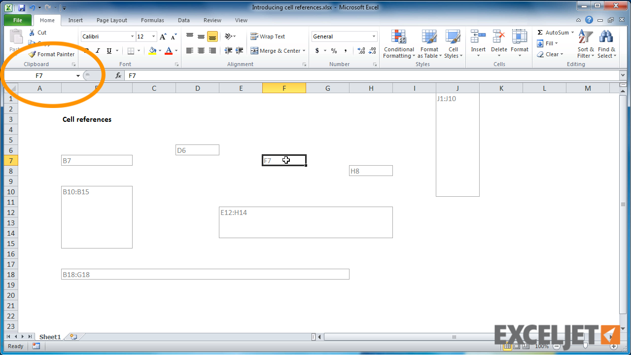 excel tutorial what is a cell reference
