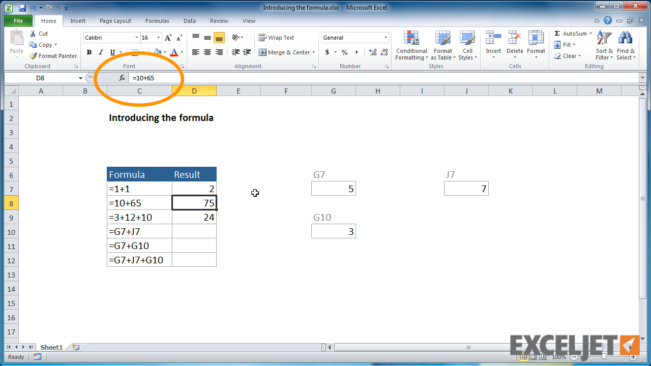 how to fix the formula in excel