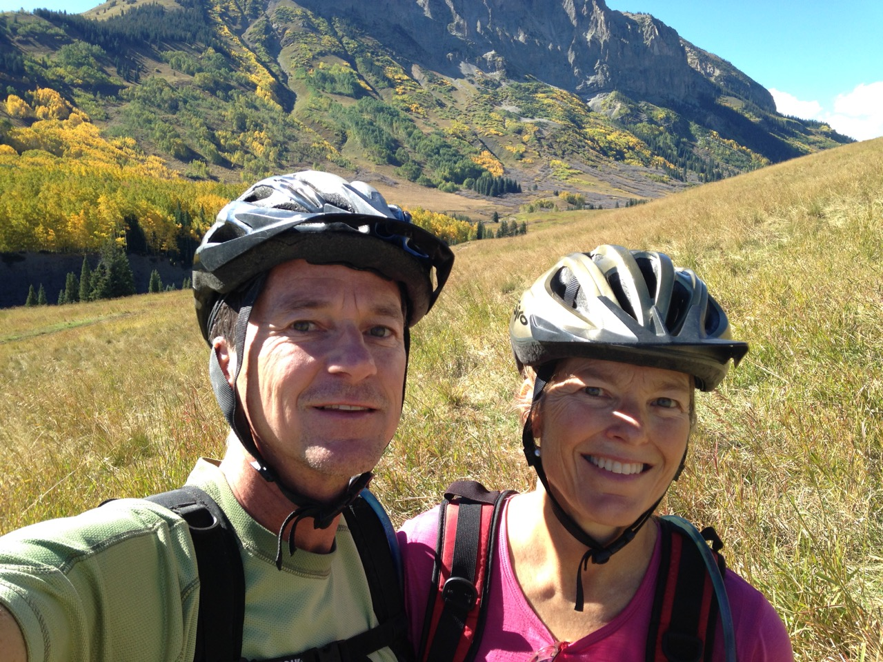 Dave and Lisa Mt. Biking in Crested Butte Colorado