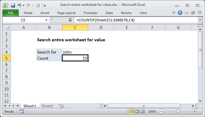 Excel Formula Se Entire Worksheet For Value Exceljet. Excel Formula Se Entire Worksheet For Value. Worksheet. Worksheet Works Excel At Mspartners.co