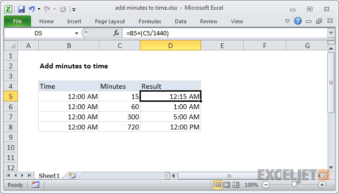 Excel Sum Time