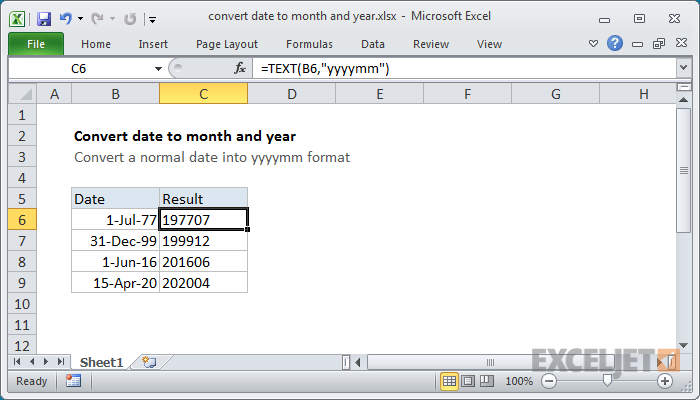 How to convert date to month in excel in Brisbane