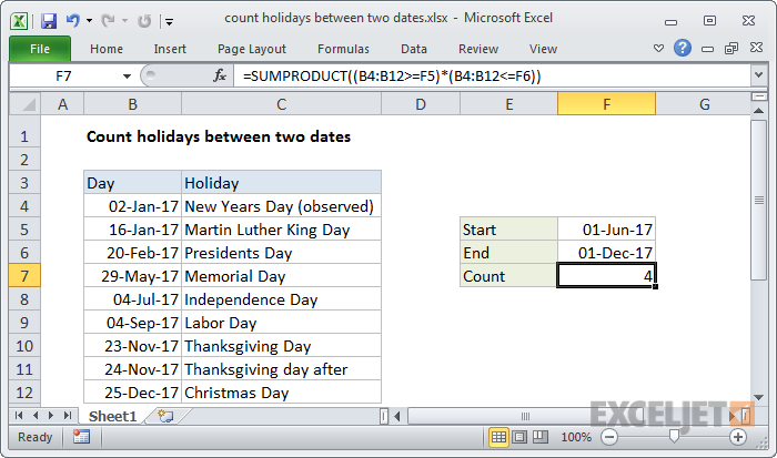 Calculate number of days between two dates online