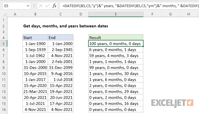 Excel add months to date