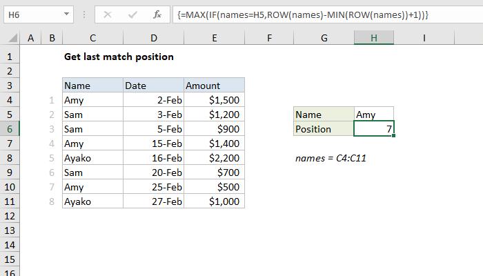Excel formula: Get last match | Exceljet