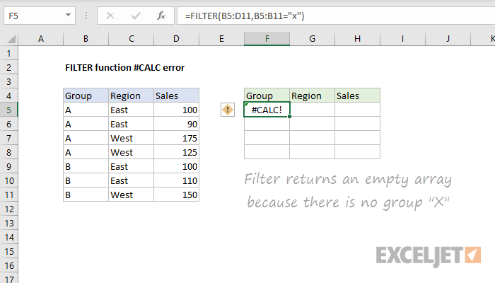 Excel formula: How to fix the #CALC! error