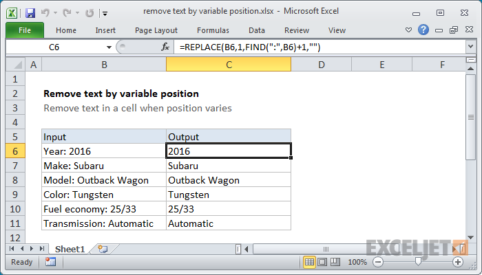 How to use the Excel FIND function   Exceljet