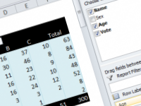 How to group pivot table data by age