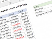 Excel formula: COUNTIFS with multiple criteria and OR logic