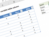 Excel formula: COUNTIFS with variable table column