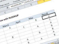 Excel formula: Get first text value with HLOOKUP