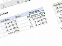 Excel formula: Get project start date