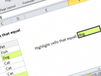 Excel formula: Highlight cells that equal