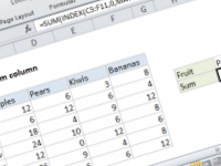 Excel formula: Lookup and sum column