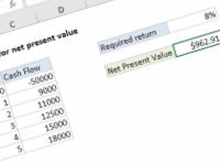 Excel formula: NPV formula for net present value