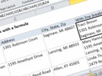 Excel formula: Add a line break with a formula