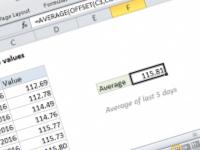 Excel formula: Average last 5 values