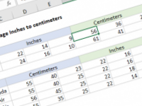 Excel formula: Carry-on baggage Inches to centimeters