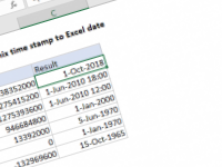 Excel formula: Convert Unix time stamp to Excel date