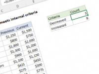 Excel formula: Count if row meets internal criteria