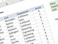 Excel formula: Count table columns