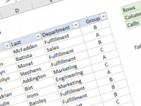 Excel formula: Count table rows