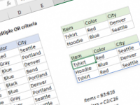Excel formula: FILTER with multiple OR criteria