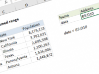 Excel formula: Get address of named range