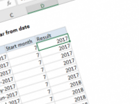 Excel formula: Get fiscal year from date