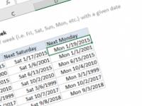 Excel formula: Get next day of week