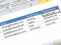 Excel formula: Get domain from email address