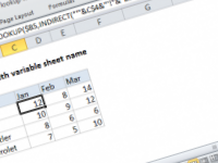 Excel formula: Lookup with variable sheet name
